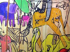 """""""The Herd"""" collaborative mural by Prospect Artists; exhibited in the 2014 SPARK! Festival #sparkfestival #disabilityart"""