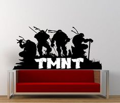 Teenage Mutant Ninja Turtles TMNT decal post for wall by YMDecals, $20.00