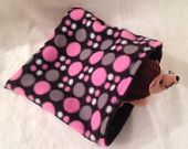 Hedgehog  Fleece Sleeping Bag Sleep Sack Cuddle Bed Pink Black Grey Dots $8.00