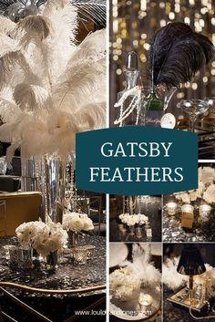 Great Gatsby 20s Feathers via Loulou + Jones