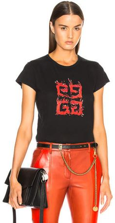 dd8adcda2fe3 Givenchy Flame 4G Graphic Tee Givenchy Clothing