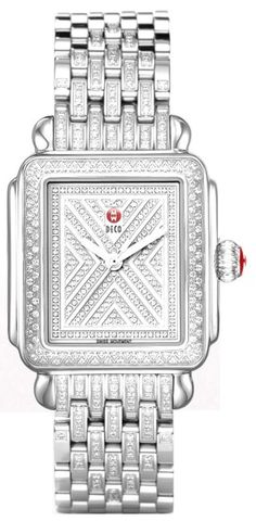 MWW06T000063  NEW MICHELE ART OF DECO DIAMOND LADIES WATCH    Usually ships within 8 weeks - Click to view AVAILABLE Luxury Watch Sales - FREE Overnight Shipping - No Sales Tax (Outside California)- With Manufacturer Serial Numbers- LIMITED EDITION, Numbered XXX / 500 Ever Made - Silver White Metal Diamond Dial - Total Number of Diamonds: 418 - Total Diamond Weight: 1.73ct - Battery Operated Quartz Movement- 3 Year Warranty - Guaranteed Authentic - Certificate of Authenticity- Manufacturer…