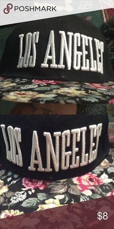 Snap back Floral print los Angeles snap back. Wet Seal Accessories Hats