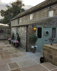 Patio paving outdoors area - All For Garden Cottage Patio, Coastal Cottage, Cottage Extension, Pergola, Irish Cottage, Modern Pools, Cottage Interiors, House Front, Cottage Style