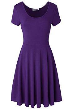 1dcff6ed4ba Summer Dress  9.99 Samimar Sleeveless Swing Patchwork Party Summer Dresses  for Women Blue Dress Pruple Small