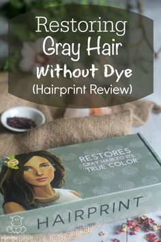 hairprint review - I need to try this when I actually care enough about my greys to want to do something about them.