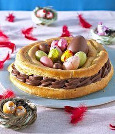 Gâteau nid Repas de Pâques