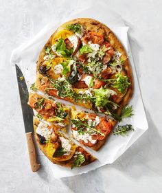 This tasty flatbread is a riff on the classic BLT sandwich.