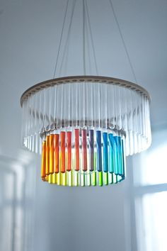 Maria SC double test tubes chandelier by PaniJurek on Etsy, $245.00