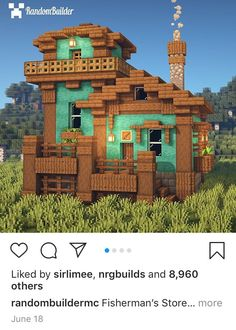 Cute Minecraft Houses, Amazing Minecraft, Minecraft House Designs, Minecraft Creations, Minecraft Crafts, Minecraft Buildings, Minecraft Building Guide, Minecraft Plans, Minecraft Survival