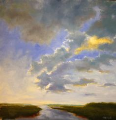 Liz's works are unreal. Touchable. #abstractclouds #abstractlandscapes