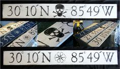 Longitude & Latitude Signs; can be personalized too!