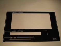 USPS Letter size mail dimensional standards template Use the ...