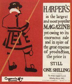 The Beggarstaffs, poster for Harper's Magazine, 1895.