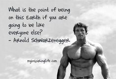 Get daily motivational quotes on My Inspiring Life. Quote of the day. Inspire, ignite, encourage, no limits, dream big. Arnold Schwarzenegger quote.