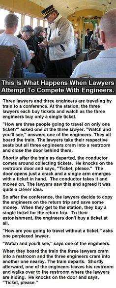 Lawyers Vs. Engineers