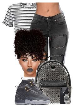 """""""Solicit"""" by chiamaka-ikaraoha ❤ liked on Polyvore featuring Miss Selfridge, MCM, NIKE, Lime Crime and Rolex"""
