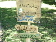 a sign I painted for a rustic mountain wedding-- cynthia@dreamingupthebest@gmail.com