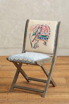 Elephant Appliqué Terai Folding Chair #anthropologie
