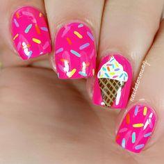 Nail Art Tutorial: Ice Cream Cone