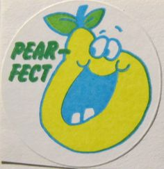 Vintage Scratch and Sniff Stickers Trend Rare Matte Pear-Fect Pear Scent