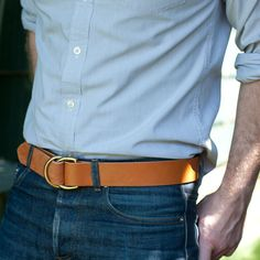Great d-ring handmade belt from Wood & Faulk.