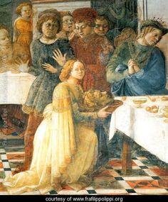 Beheading of St John the Baptist, detail - Fra Filippo Lippi - www.frafilippolippi.org