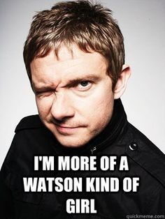 Well, both is good. I mean some Watson/Martin or Sherlock/Benedict. Both is good.