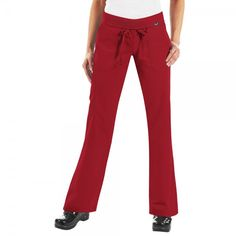 Koi Morgan Scrub Trousers in Ruby. If you like your comfort, then these koi Morgan Scrub Pants are perfect. They are ultra soft and super comfy. They have a drawstring waist and a rib-trim waist band that can be worn rolled or unrolled for added comfort. When you wear the koi Morgan Scrub Trousers, it really does feel like you are wearing tracksuit bottoms but with total style. £27.50  #nursescrubs #dentistuniform #nurses #dentists #redscrubs