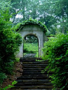 "julesofnature:  Dumbarton Oaks, Washington DC ""The doors we open and close each day decide the lives we live.""   -Flora Whittemore"