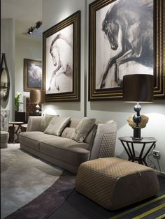 A luxury living room by Vittoria Frigerio | Italy Reinventing sofas (and ottomans)