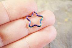Rainbow Star Daith Ear Piercing Cartilage