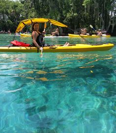 A bimini top to accent your kayak and keep you in the shade!