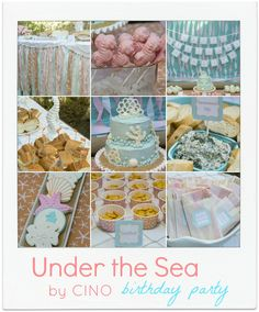 """Totally awesome under the sea party from one of my fave bloggers: Craftiness is Not Optional. I will be """"borrowing"""" many of these ideas!"""