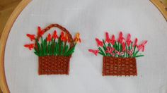 Hello! Today we are making Flower Basket Stitch. Don't forget to like, share and subscribe! I used regular embroidery thread with 6 strands of floss for maki...