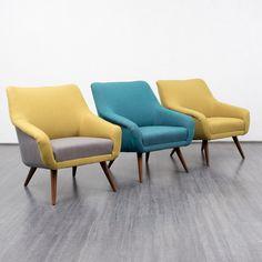 Vintage Sessel - Große 50er Jahre Cocktailsessel, neu bezogen - ein Designerstück von Velvet-Point bei DaWanda