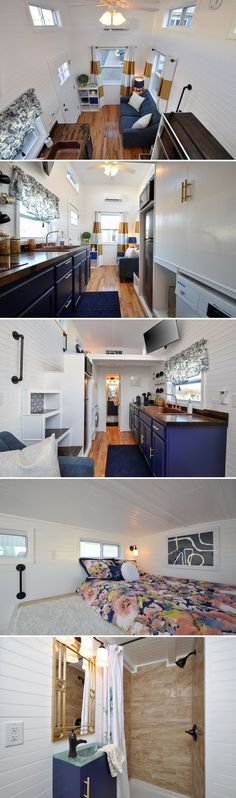 Tiny House Bedroom, Tiny House Stairs, Bedroom Loft, King Bedroom, Small Room Bedroom, Tiny House Loft, Tiny House Design, Small Room Design, Interior Design Living Room