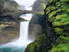 Natural waterfall bridge.