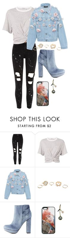 """""""BTS"""" by flo-wer ❤ liked on Polyvore featuring River Island, T By Alexander Wang, Anouki, GUESS and Charlotte Russe"""