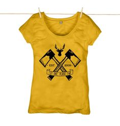 Cutting right through the established best sellers list is our new women's organic cotton Lumberjack t-shirt. Cut one, plant two.