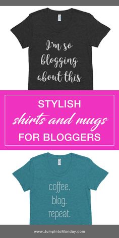 These stylish shirts, mugs, and posters are perfect for any blogger. Love these! Perfect holiday gifts or a fun way to start a conversation about your blog.