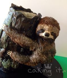 -) (cookie decorating party for teens) Baby Sloth, Cute Sloth, Sloth Cakes, Birthday Cakes For Teens, 9th Birthday, Birthday Ideas, Cookie Decorating Party, Teen Cakes, Animal Cakes