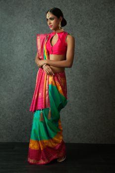 Welcome Sari  Love the Handloom Patola Saree from BenzerWorld!