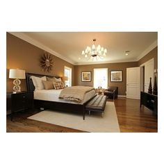This large Master Bedroom has room for a king size bed, a nice seating area and a media center. I find neutral colors to be the most relaxing, so this room is k...