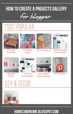 How to Create a Projects Gallery for Blogger | Home Coming