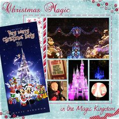 Disney Scrapbook Page Layout - Mickey's Very Merry Christmas Party Disney Scrapbook Pages, Scrapbook Sketches, Scrapbook Page Layouts, Scrapbook Cards, Scrapbooking Ideas, Vacation Scrapbook, Disney Cards, Disney Fun, Disney Trips
