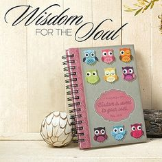 Adorable pink owl design with brocade pattern; Scripture verse from Proverbs 24:14.   Wisdom is sweet to your soul Christian gift you'll love to give.
