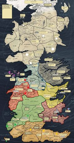 Westeros Map there needs to be a game of thrones risk Game Of Thrones Westeros, Westeros Map, Game Of Thrones Party, Risk Game Of Thrones, Game Of Thrones Castles, Got Map, Map Games, Game Of Thones, Fantasy Map