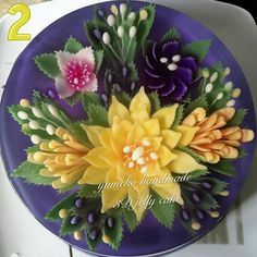 3D Jelly Flowers Cake Jello Gelatin, Jello Cake, Jello Recipes, Cupcake Recipes, Puding Art, 3d Jelly Cake, Jelly Desserts, Jelly Flower, Colorful Desserts