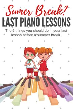 These 6 piano lesson activities will send your students out the door before summer holidays smiling and excited to return to lessons in the fall. Piano Games, Piano Music, Piano Teaching, Teaching Tips, Piano Lessons, Music Lessons, Music Education, Music Class, Students